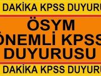 Kpss Lise ve önlisans branş sıralamaları Açıklandı