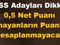 KPSS Adayları Dikkat! 0,5 Net Puanı Olmayanların Puanları Hesaplanmayacak