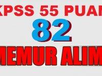 KPSS 55 puanla 82 Devlet Memuru Alımı