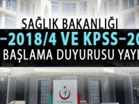 KPSS–2018/4 ve KPSS–2018/5 Göreve Başlama İşlemleri Hakkında Duyuru