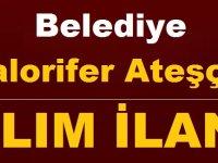 Karacasu Belediyesi Kalorifer Ateşçisi (Katı ve Sıvı Yakıt) işçi ilanı