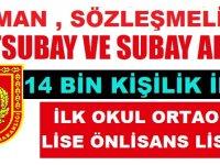 14 bin Subay, Astsubay, Sözleşmeli Er ve Askeri Personel Alımı Kasım 2018