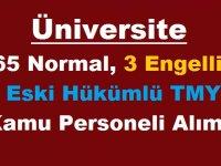 Süleyman Demirel Üniversitesi 65 Normal,3 Engelli, 2 Eski Hükümlü TMY Kamu Personeli Alımı