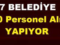 7 Belediye 271 TYP Personeli Alımı Yapıyor