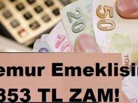 Memur emeklisine 853 lira zam!