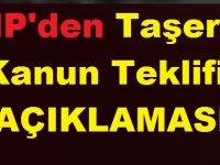 CHP'den Taşeron Kanun Teklifi Açıklaması