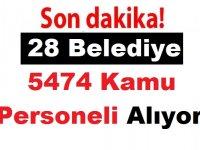 28 Belediye 5474 Kamu Personeli Alıyor Kasım Belediye iş ilanları