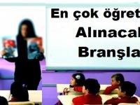 Şubat 2019'da En çok Öğretmen alınacak 10 Branş