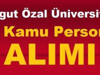 Turgut Özal Üniversitesi 50 Kamu Personel Alımı