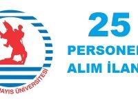 Ondokuz Mayıs Üniversitesi 25 Kamu Personel Alım İlanı.