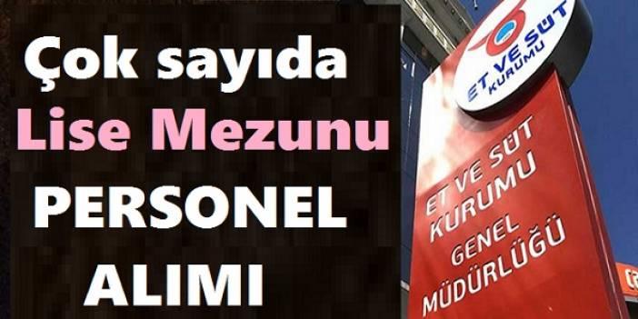 Erzurum Et ve Süt Kurumu Daimi Kadrolu İşçi Alıyor
