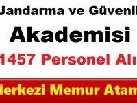 Jandarma ve Güvenlik Akademisi 1457 Askeri Personel Alımı