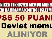 TİSKİ Genel Müdürlüğü KPSS 50 Puan 51 Devlet Memuru Alımı