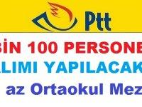 PTT 1100 KAMU PERSONELİ PERSONEL ALIMI