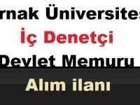 Şırnak Üniversitesi İç Denetçi Kariyer iş ilanı