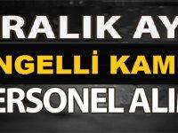 Belediye Engelli Önlisans Lisans Memur Kariyer ilanı