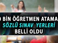 20 Bin Sözleşmeli Öğretmen Ataması Sözlü Sınav Yerleri Belli Oldu