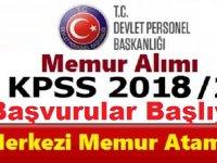 KPSS 2018/2 merkezi atama tercih alma işlemleri