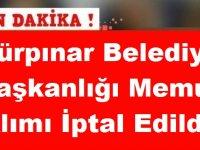 Gürpınar Belediye Başkanlığı Mimar Alımı İptal Edildi