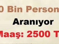 Ayda 2500 Lira İle 20 Bin Personel Aranıyor