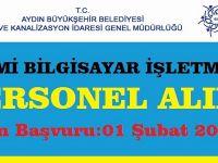 Aydın Büyükşehir Belediyesi Aski Genel Müdürlüğü Daimi Personel Alımı