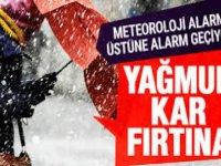 Meteorolojiden Tüm Türkiye'yi Saracak Kuvvetli Yağış, Fırtına ve Kar Uyarısı