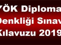 YÖK Diploma Denkliği Sınav Kılavuzu 2019