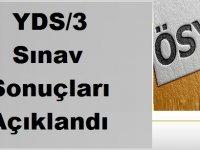 YDS/3 sınav sonuçları Açıklandı