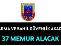 Jandarma ve Sahil Güvenlik Akademisi 37 Kamu Personeli Alacak