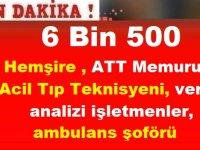 Aralık Ayı Kamu Personeli Alımı! 6 Bin 500 Hemşire , ATT ,Memur Alımı