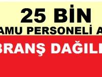 Sağlık Bakanlığı 25 Bin Kamu Personeli Alımı Branş Dağılımı