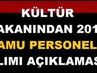 Kültür ve Turizm Bakanı Mehmet Nuri Ersoydan 2019 Kamu Personel Alımı Açıklaması