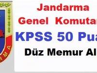 Jandarma KPSS 50 Puanla Düz Memur Alımı! Başvuruları Kaçırmayın!