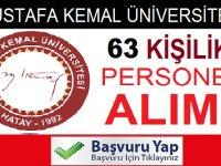 Mustafa Kemal Üniversitesi 63 Kamu Personeli Alımı