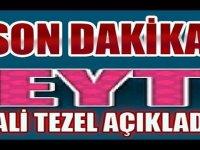 Ali Tezel'den EYT'ye Mesaj geldi
