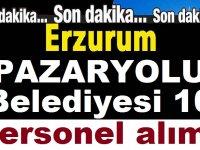 Erzurum Pazaryolu Belediyesi 10 Şoför Alım ilanı Yayınlandı
