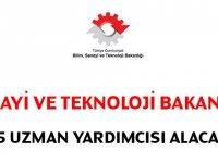 Sanayi Bakanlığı 25 uzman Devlet Memuru Alım ilanı yayınlandı