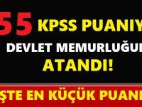 KPSS 2018/2 Tercih Sonuçları 55 KPSS Puanıyla Devlet Memuru Oldu