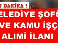 Nevşehir Ortahisar Belediyesi Şöför ve Beden İşçisi Alım ilanı