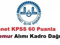 Diyanet KPSS 60 Puanla 76 Memur Alımı Kadro Dağılımı