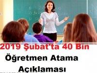MEB'dan Şubat'ta 40 Bin Öğretmen Atama Talebi