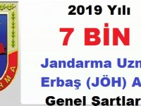 2019 Yılı 7 BİN Jandarma Uzman Erbaş (JÖH) Alımı Genel Şartları