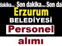 Erzurum Aziziye Belediyesi Daimi Sürekli İş ilanı