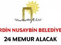 Mardin Nusaybin Belediyesi Kadrolu 26 Memur Alımı yapıyor