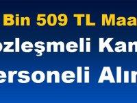 11 Bin 509 TL Maaşlı Sözleşmeli Kamu Personeli Alımı