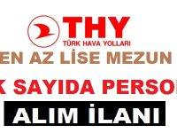 Türk Hava Yolları İŞKUR'da En Az Lise Mezunu 100 Personel Alımı