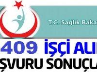 Sağlık Bakanlığı 6409 Sürekli İşçi Alımı Başvuru Sonuçları