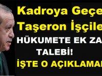 KİT Taşeron 4-D Kadrolu Taşerona Hükümete Ek Zam Talebi
