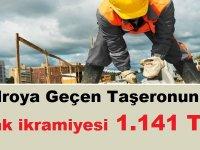 Kadroya Geçen Taşeronun 2019 Ocak ikramiyesi 1.141 TL