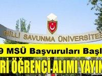 Milli Savunma Üniversitesi 2019 Askeri Öğrenci Aday Belirleme Sınavı